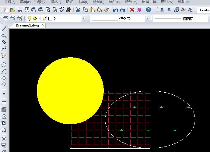 设计图中的CAD图形重叠到一起了?cad点3夹的图片
