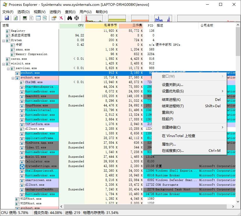 Process Explorer v16.32汉化版