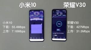 小米10和荣耀V30哪个5G信号更好?