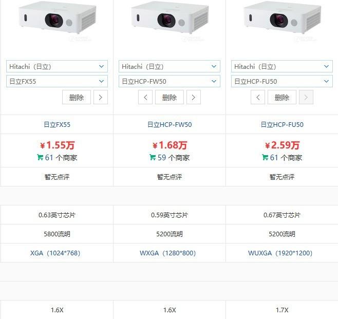 日立投影FU50 FX55 FW50 那个性比价高 好用些 幕布是4:3的比例