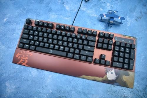 这达尔优EK815火影忍者限定版机械键盘的手托可以拆?