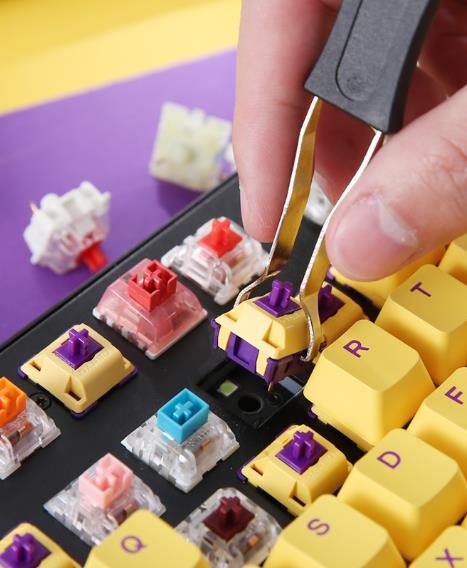 DAREU有线热插拔键盘可以随心换轴体吗?